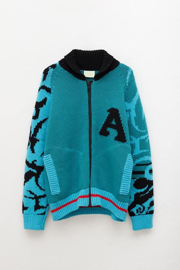 Shop Acne Studios Dusty Pink Faraz Stamp Half Zip Sweatshirt