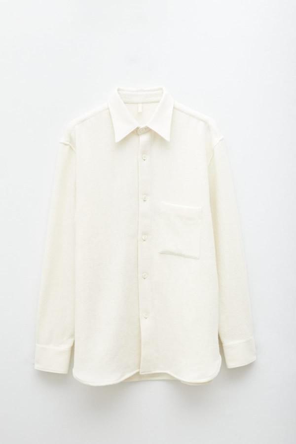 Shop Comme Des Garcons Play Ivory Hoodie P1T174