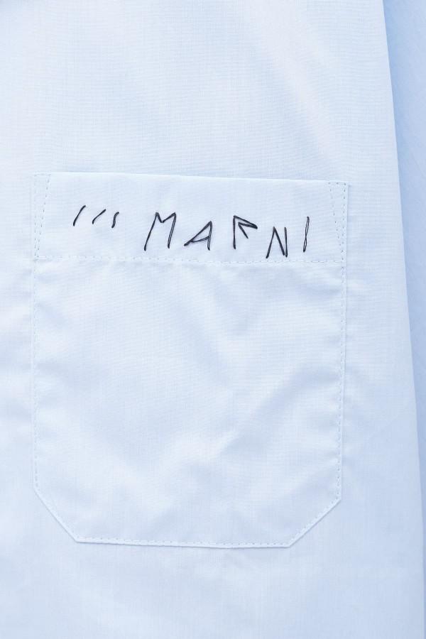 Shop Acne Studios Beige Floral Simon Shirt