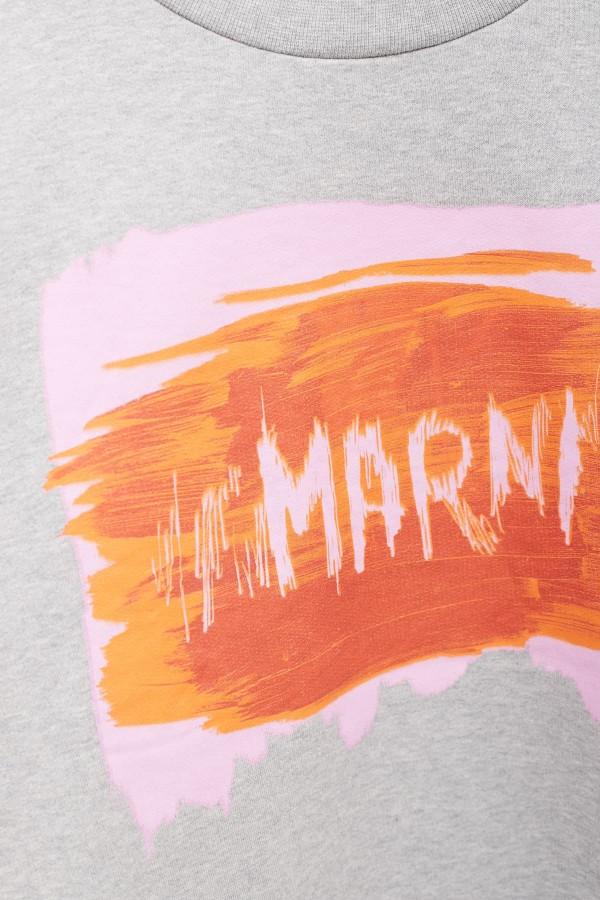 Shop Acne Studios Dark Orange Face Fairview Sweatshirt