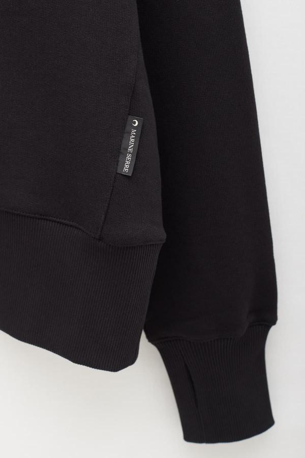 Shop Acne Studios Black Fulton Logo Rib Sweatshirt