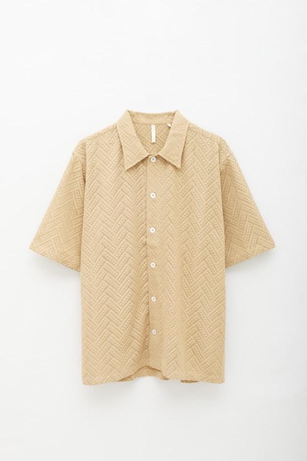 Loreak Mendian Cream Stripes Roll T-Shirt