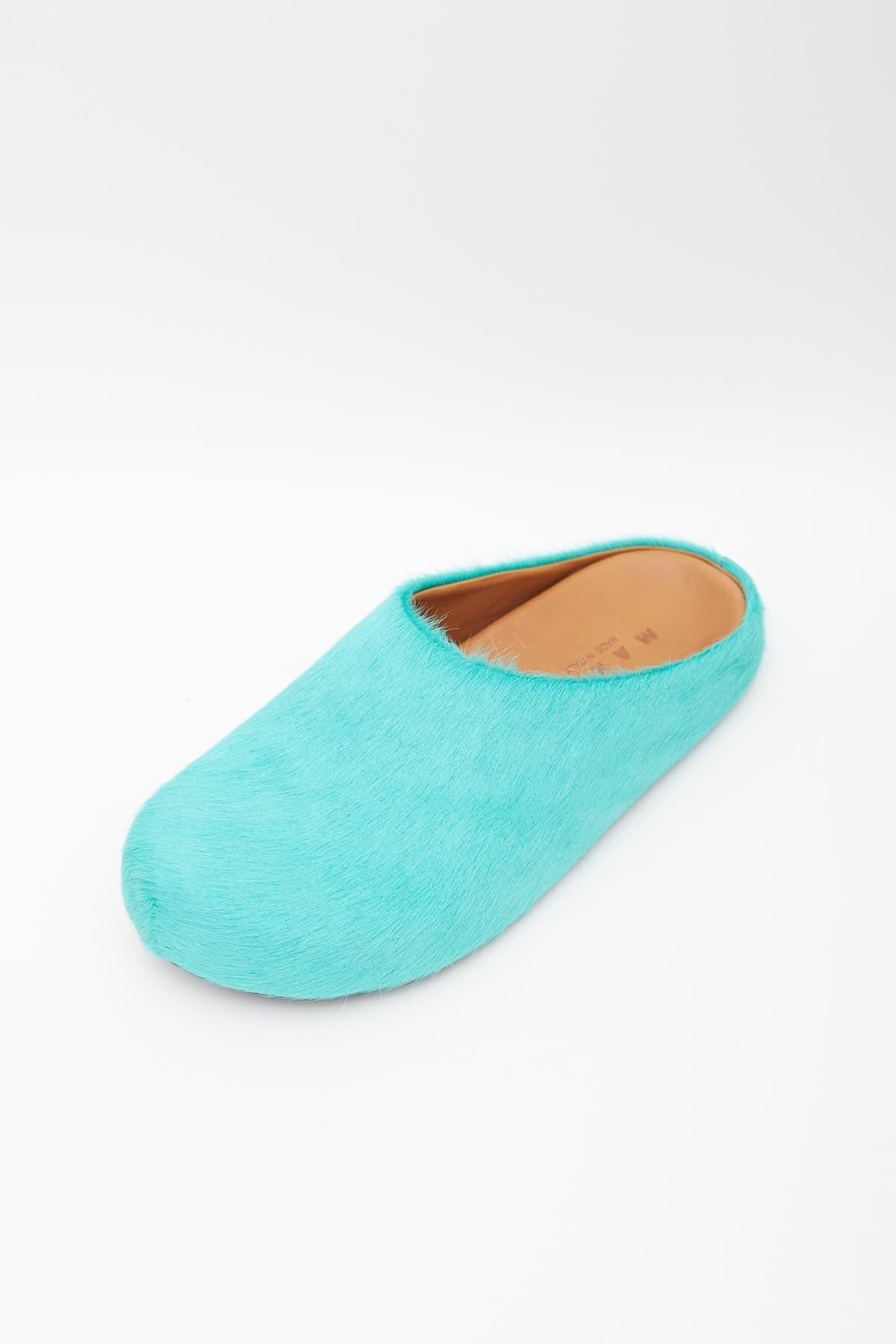 Comprar Marni Blue Multi Mohair Raw Edges Round Neck Sweater